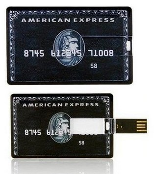 Флешка кредитка American Express Black/Gold 4 ГБ 8 ГБ 16 ГБ 32 ГБ